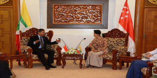 Daw Aung San Suu Kyi met with Singapore Foreign Minister Dr. Vivian Balakrishnan