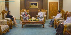 အပြည်ပြည်ဆိုင်ရာ ပူးပေါင်းဆောင်ရွက်ရေးဝန်ကြီးဌာန ပြည်ထောင်စုဝန်ကြီးက မြန်မာနိုင်ငံဆိုင်ရာ လစ်သူရေးနီးယား နိုင်ငံ သံအမတ်ကြီးအား လက်ခံတွေ့ဆုံ