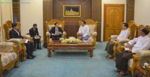 အပြည်ပြည်ဆိုင်ရာ ပူးပေါင်းဆောင်ရွက်ရေးဝန်ကြီးဌာန ပြည်ထောင်စုဝန်ကြီးက မြန်မာနိုင်ငံဆိုင်ရာ လာအိုနိုင်ငံ သံအမတ်ကြီးအား လက်ခံတွေ့ဆုံ