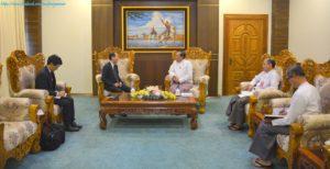 အပြည်ပြည်ဆိုင်ရာ ပူးပေါင်းဆောင်ရွက်ရေးဝန်ကြီးဌာန ပြည်ထောင်စုဝန်ကြီးက မြန်မာနိုင်ငံဆိုင်ရာ ဂျပန်နိုင်ငံ သံအမတ်ကြီးအား လက်ခံတွေ့ဆုံ