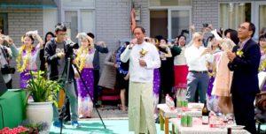 ကူမင်းမြို့၊ မြန်မာကောင်စစ်ဝန်ချုပ်ရုံးသည် မြန်မာ့ရိုးရာအတာသင်္ကြန်ပွဲတော် ကျင်းပ