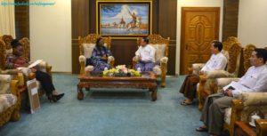 အပြည်ပြည်ဆိုင်ရာ ပူးပေါင်းဆောင်ရွက်ရေးဝန်ကြီးဌာန ပြည်ထောင်စုဝန်ကြီးက မြန်မာနိုင်ငံဆိုင်ရာ ဂါနာသံအမတ်ကြီးအား လက်ခံတွေ့ဆုံ