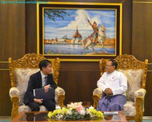 အပြည်ပြည်ဆိုင်ရာ ပူးပေါင်းဆောင်ရွက်ရေးဝန်ကြီးဌာန ပြည်ထောင်စုဝန်ကြီးက မြန်မာနိုင်ငံဆိုင်ရာ ကိုရီးယားသမ္မတနိုင်ငံ သံအမတ်ကြီးအား လက်ခံတွေ့ဆုံခြင်း