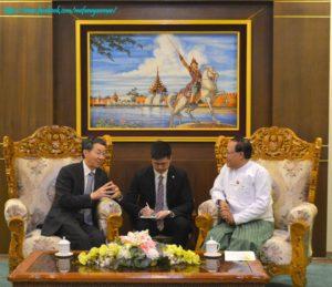 အပြည်ပြည်ဆိုင်ရာ ပူးပေါင်းဆောင်ရွက်ရေးဝန်ကြီးဌာန ပြည်ထောင်စုဝန်ကြီးက တရုတ်ပြည်သူ့သမ္မတနိုင်ငံ နိုင်ငံခြားရေး ဝန်ကြီးဌာန အာရှရေးရာ အထူးကိုယ်စားလှယ်အား လက်ခံတွေ့ဆုံ
