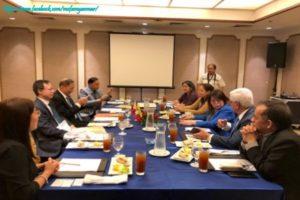 ဖိလစ်ပိုင်နိုင်ငံဆိုင်ရာ မြန်မာသံအမတ်ကြီး ဖိလစ်ပိုင်ကုန်သည်ကြီးများနှင့် စက်မှုလုပ်ငန်းရှင်များအသင်းဥက္ကဋ္ဌနှင့် တွေ့ဆုံခြင်း