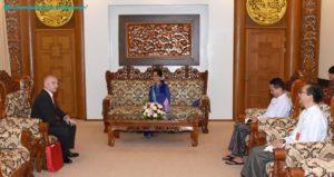 State Counsellor receives Ambassador of Georgia