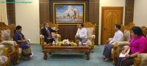 အပြည်ပြည်ဆိုင်ရာပူးပေါင်းဆောင်ရွက်ရေးဝန်ကြီးဌာန၊ ပြည်ထောင်စုဝန်ကြီးက ကုလသမဂ္ဂ ဖွံ့ဖြိုးမှုအစီအစဉ် (United Nations Development Programme-UNDP) ၏ မြန်မာနိုင်ငံဆိုင်ရာ ယာယီ ဌာနေကိုယ်စားလှယ်အား လက်ခံတွေ့ဆုံ