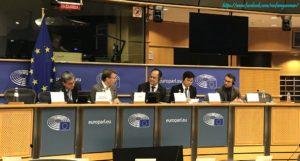 ဥရောပသမဂ္ဂဆိုင်ရာ မြန်မာသံအမတ်ကြီးက အာဆီယံ-ဘရပ်ဆဲလ်ကော်မတီ နှင့် ဥရောပပါလီမန်၏ အရှေ့တောင်အာရှနိုင်ငံများနှင့် အာဆီယံဆက်ဆံရေးဆိုင်ရာ ကိုယ်စားလှယ်အဖွဲ့ (DASE) တို့၏ ပထမအကြိမ် အလွတ်သဘောမိတ်ဆက်အစည်းအဝေး၌ ပူးတွဲဥက္ကဋ္ဌအဖြစ် ဆောင်ရွက်ခဲ့
