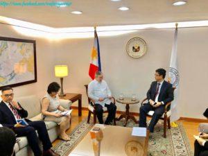 ဖိလစ်ပိုင်နိုင်ငံဆိုင်ရာ မြန်မာသံအမတ်ကြီးက ဖိလစ်ပိုင်နိုင်ငံခြားရေးဝန်ကြီးအား သွားရောက်တွေ့ဆုံ