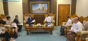 အပြည်ပြည်ဆိုင်ရာပူးပေါင်းဆောင်ရွက်ရေးဝန်ကြီးဌာန၊ ပြည်ထောင်စုဝန်ကြီးက မြန်မာနိုင်ငံဆိုင်ရာ တရုတ်ပြည်သူ့သမ္မတနိုင်ငံ သံအမတ်ကြီးအား လက်ခံတွေ့ဆုံ