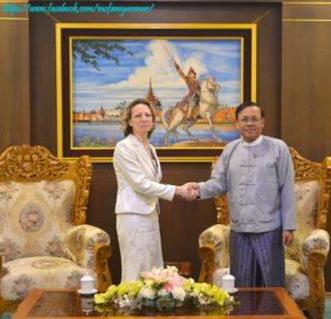 အပြည်ပြည်ဆိုင်ရာ ပူးပေါင်းဆောင်ရွက်ရေးဝန်ကြီးဌာန၊ ပြည်ထောင်စုဝန်ကြီးက မြန်မာနိုင်ငံဆိုင်ရာ ချက်သမ္မတနိုင်ငံ သံအမတ်ကြီးအား လက်ခံတွေ့ဆုံ