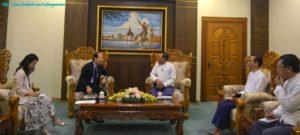 အပြည်ပြည်ဆိုင်ရာပူးပေါင်းဆောင်ရွက်ရေးဝန်ကြီးဌာန၊ ပြည်ထောင်စုဝန်ကြီးက မြန်မာနိုင်ငံဆိုင်ရာ ဂျပန်နိုင်ငံ သံအမတ်ကြီးအား လက်ခံတွေ့ဆုံ