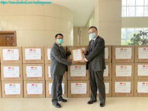 ယူနန်ပြည်နယ်မှ မြန်မာနိုင်ငံအတွက် နှာခေါင်းစည်း (၆၀,၀၀၀) ပေးအပ်လှူဒါန်းခဲ့ခြင်း