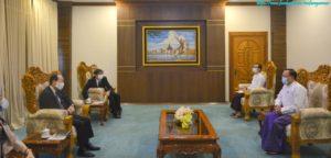အပြည်ပြည်ဆိုင်ရာ ပူးပေါင်းဆောင်ရွက်ရေးဝန်ကြီးဌာန ပြည်ထောင်စုဝန်ကြီးက မြန်မာနိုင်ငံဆိုင်ရာ ဂျပန်သံအမတ်ကြီးအား လက်ခံတွေ့ဆုံ