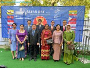 (၅၃)နှစ်မြောက် အာဆီယံနေ့ အထိမ်းအမှတ်အဖြစ် အာဆီယံအလံတင် အခမ်းအနား ကျင်းပခဲ့ခြင်း