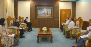 အပြည်ပြည်ဆိုင်ရာ ပူးပေါင်းဆောင်ရွက်ရေးဝန်ကြီးဌာန ပြည်ထောင်စုဝန်ကြီးက မြန်မာနိုင်ငံဆိုင်ရာ ဂျပန်နိုင်ငံသံအမတ်ကြီးအား လက်ခံတွေ့ဆုံ
